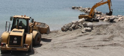 Costas amplía el espigón entre las playas Puerta de Mar y La Caletilla de Almuñécar