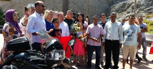 ALCALDESA DIO BIENVENIDA A LA COMITIVA DE LA MOROCCO RIDERS 2015