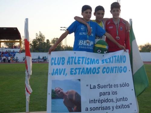 Club Atletismo Sexitano, pancarta homenaje