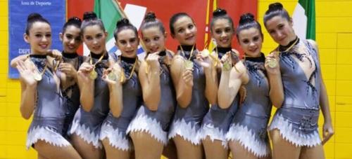 Las Junior de la Gimnasia Rítmica de Almuñécar campeonas de Andalucía en la Final Nacional Promesas 2015