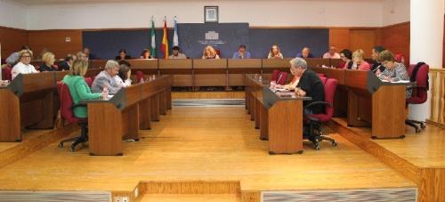 Momento del primer Pleno del Ayuntamiento de Motril