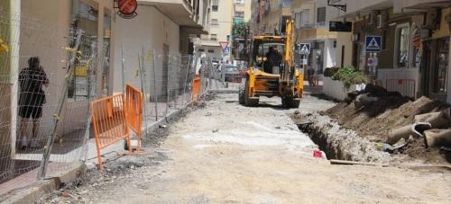 Renovación de las redes de abastecimiento y saneamiento de la calle Cariñena