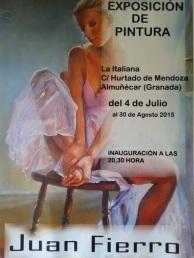 Exposición de pintura de Juan Fierro en la Italiana Café