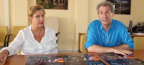 """La concejal de Cultura, Olga Ruano, y el director de Los Veranos del Corral"""", Raúl Comba"""