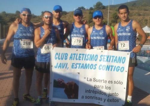 Deportistas del Club Atletismo Sexitano en la III Edición del Trail Alcornocal Sierra de Lújar