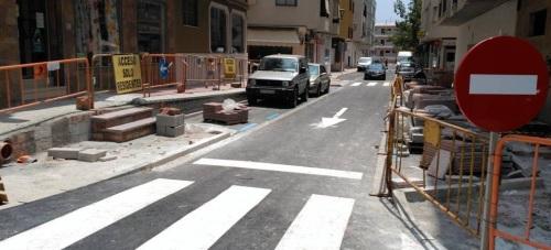 Calle Cariñena tras la primera fase de rehabilitación