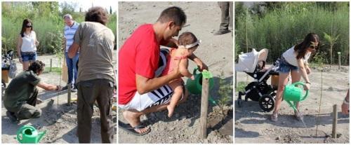 El 'Bosque de la Vida' crece un año más con la ayuda de 50 familias