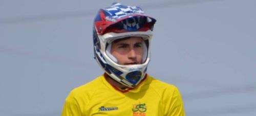 El rider sexitano Carlos Rodríguez Cano en el Campeonato del Mundo BMX 2015