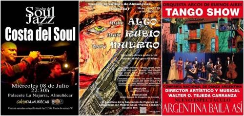 La música, el cine y teatro, protagonistas en la oferta cultural para esta semana en Almuñécar