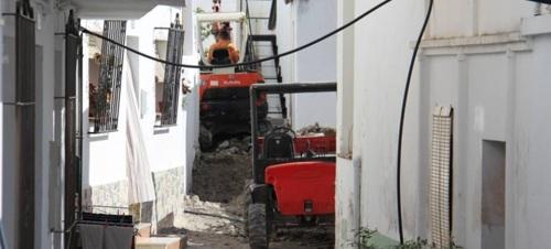 Continúan los trabajos de rehabilitación del casco antiguo de La Herradura