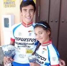 El ciclista sexitano alevín José María Herrero gana la carrera en Dos Hermanas