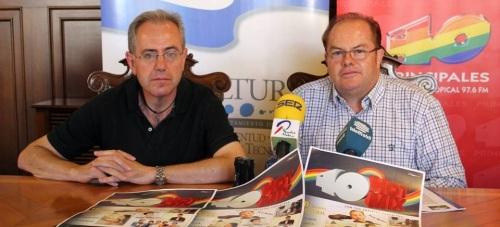Francisco Ruiz y Francisco Anguita en la presentación del '40 Hot Mix'