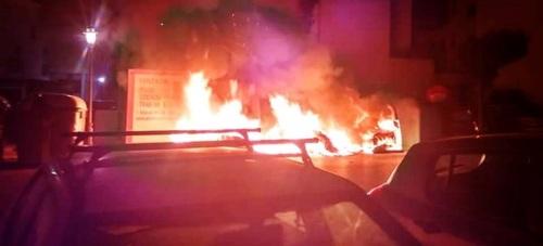 Incendio de contenedores en Salobreña