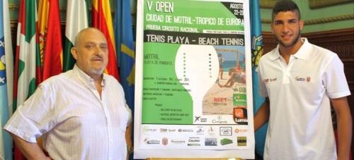 José Manuel Estévez y Rubén Díaz de la Torre en la presentación del V Open Ciudad de Motril - Trópico de Europa