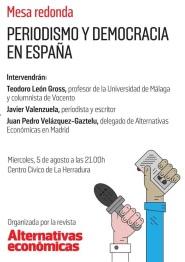 """La Herradura acoge una mesa redonda sobre """"Periodismo y democracia en España"""""""