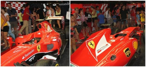 La réplica del monoplaza de Alonso y un simulador de  Fórmula 1 atraen a cientos de visitantes al 'MotorHome'
