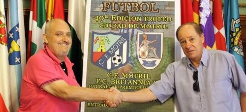 La XL edición del 'Trofeo Ciudad de Motril' enfrentará al CF Motril contra el FC Britannia XI de Gibraltar