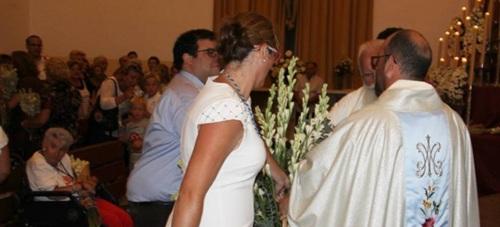 Oofrenda floral a la patrona de Almuñécar, Nuestra Señora la Virgen de la Antigua