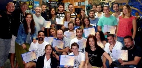 Celebrado en aguas de La Herradura el primer curso de técnicas de buceo científico de la Universidad de Granada