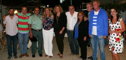 Cargos públicos e institucionales en la inauguración de las fiestas de Los Tablones en Motril