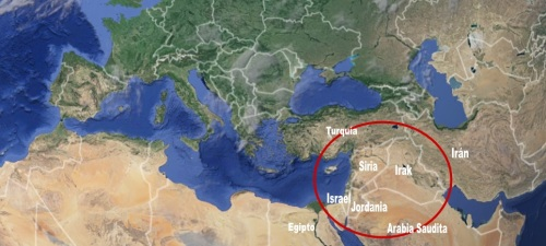 Mapa Mediterráneo_Oriente Próximo