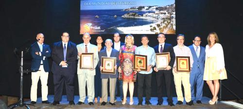 Premios de Turismo Almuñécar 2015: Félix Jiménez Ruiz, Francisco Mingorance Gutiérrez, Vicente Barbero Barbero, y La Agrupación de Cofradías y Hermandades de Semana Santa de Almuñécar.