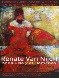 Renate van Nijen inaugura una exposición en la Casa de la Cultura de Almuñécar