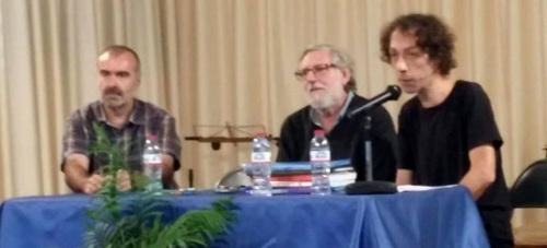 El escritor Andrés Cárdenas en el IES Antigua Sexi de Almuñécar