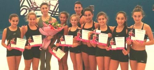 Gimnastas sexitanas participaron en un Máster Class con Sandra Aguilar