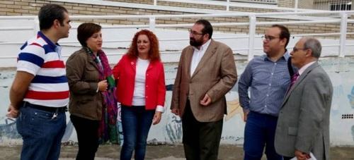 La delegada del Gobierno junto a la alcaldesa de Salobreña visitan las zonas más afectadas por el temporal