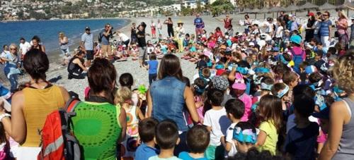 Los alumnos de Las Gaviotas protagonistas en la apertura del III Festival del Mar