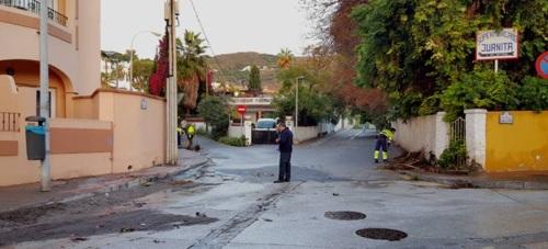 Unos 32 litros de agua han descargado las nuebes esta madrugada en Almuñécar