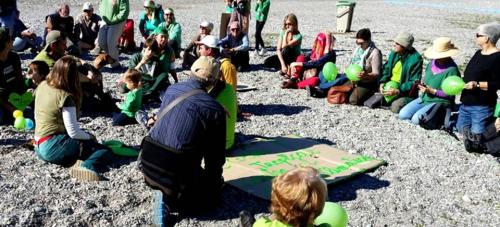 Concentración en La Herradura por la Marcha Mundial por el Clima
