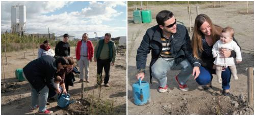 El 'Bosque de la Vida', en el humedal de la 'Charca de Suárez', crece con la nueva plantación de árboles