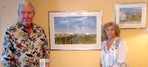 El pintor sueco Nils Ohrvall expone acuarelas en el hotel Arrayanes de Almuñécar