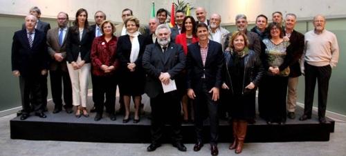 Heras-Casado, García Calderón y Luis Rosales, reconocidos por la Diputación de Granada