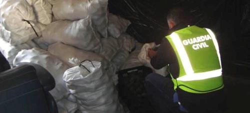 La Guardia Civil de Motril detiene a cinco personas por hurto de productos del campo