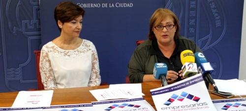 Susana Feixas, teniente de alcalde de Igualdad, junto a Lola Moreno, presidenta de EMAS