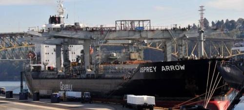 Un buque de 200 metros de eslora atraca en el Puerto de Motril este lunes