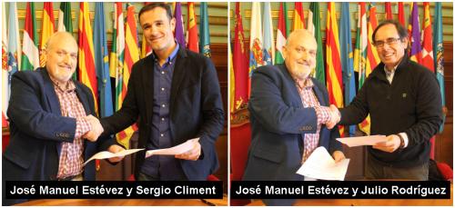 El concejal de Deportes firma sendos acuerdos de colaboración con el Centro Sergio Climent y la Clínica Syntagma