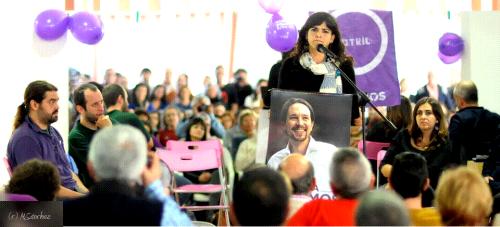 Teresa Rodríguez pide en Motril 'mandar al cajón' las políticas del Partido Popular