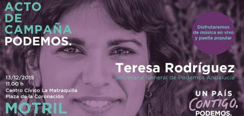 Teresa Rodríguez y Nestor Salvador este domingo en Motril