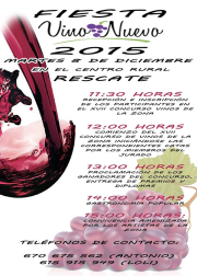 Vino Nuevo 2015: El martes 8 en el Centro Rural de Rescate