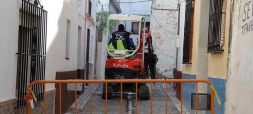 Comienzan los trabajos de rehabilitación integral de las calles Carmen Baja y Cobertizo