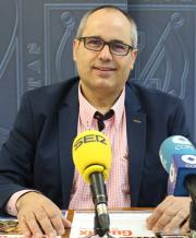 El concejal de Pariticpación Ciudadana, David Martín, en la presentación de Motrileños en ruta, conocce tu provincia