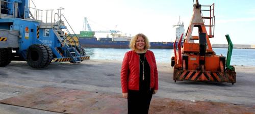 La alcaldesa destaca la repercusión económica y para el empleo que tendrá la nueva línea marítima entre Motril y Tánger
