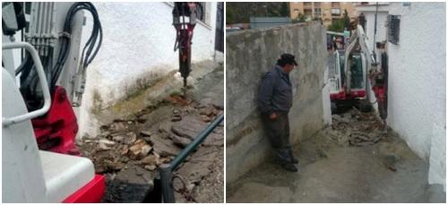 Área Municipal de Obras realiza mejoras en los accesos al barrio de Los Marinos2