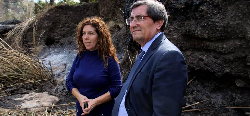 Diputación muestra su respaldo a los afectados por el incendio en Los Guájares