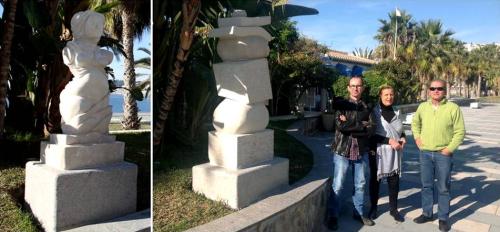Instaladas en el paseo de San Cristóbal dos esculturas donadas por dos artistas del MAA