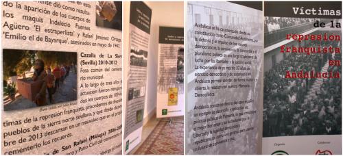 La exposición 'Víctimas de la represión franquista en Andalucía' repasa los años de la II República, el Franquismo y la Transición